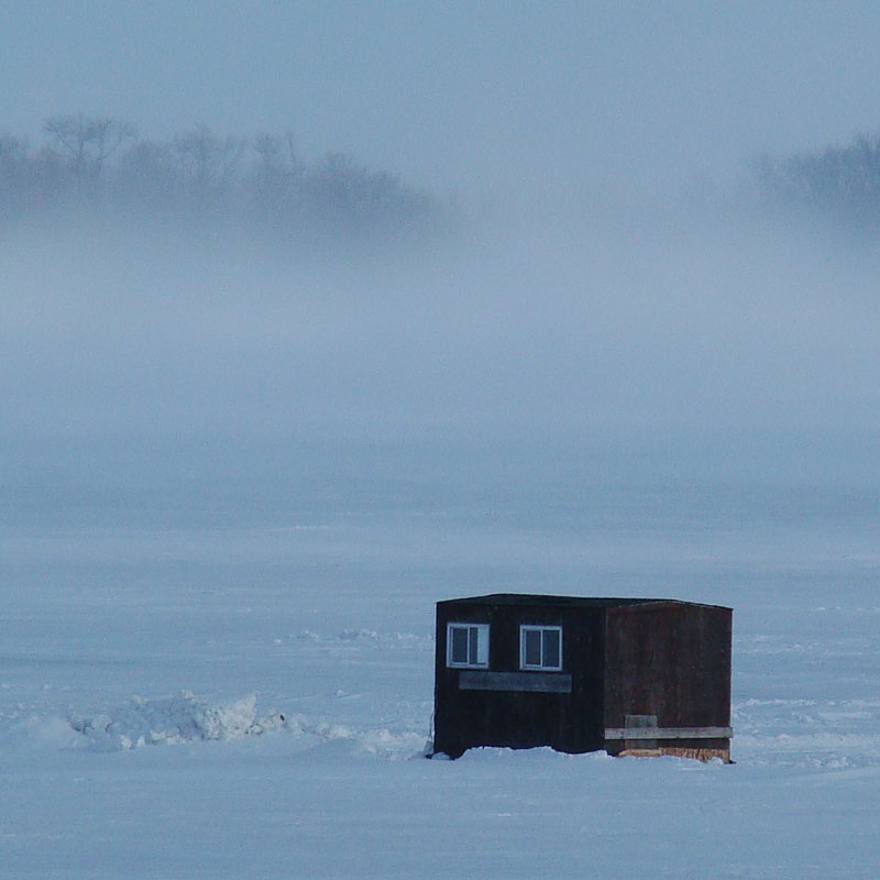 Winter in Minnesota - Ice fishing on Leech Lake