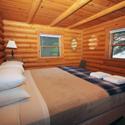 Bedroom in the Cedars log home cabin on Leech Lake