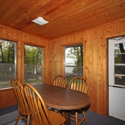 dining room in Woodlands lake home cabin on Leech Lake
