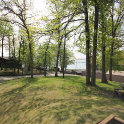 Woodlands cabin yard on Leech Lake