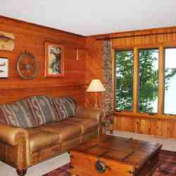 Heritage living room overlooking Leech Lake