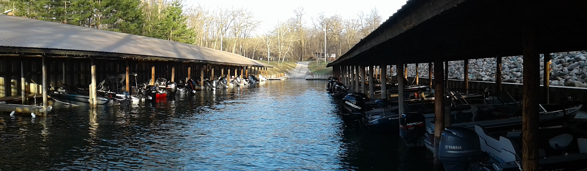 Need a resort with a covered harbor for your fishing boat? Adventure North Resort on Leech Lake has you covered!