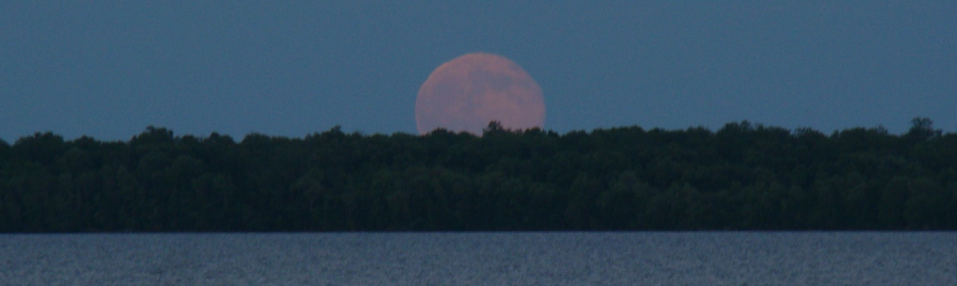 Super Moon Over Leech Lake MN